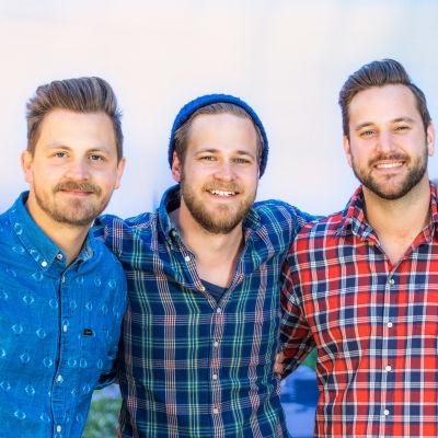 Gruppen Solala består av (fr.v.) Anders Gabrielson, Olle Bergel och Jens Lindvall.