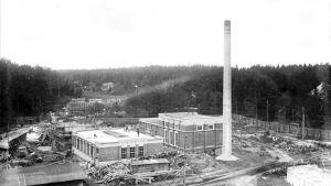 Det gamla kraftverket byggs i Pargas.