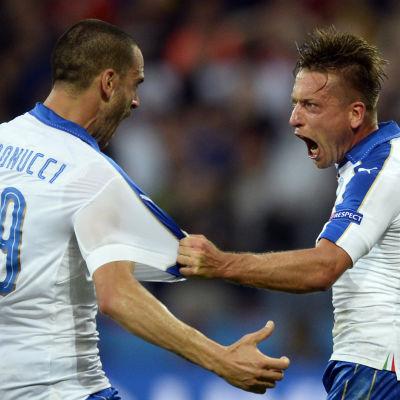 Leonardo Bonucci och Emanuele Giaccherini, EM 2016.