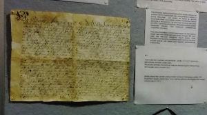 Gustav II Adolf gav order om ett spetälskesjuhus på Själö 1619. Här en kopia av brevet.