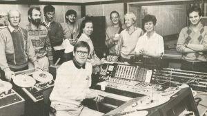 Borgåredaktionen samlad, Borgåbladet 6.9.1986.