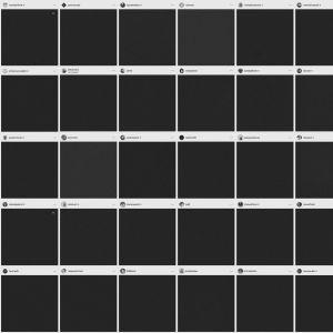 Musiikkialan Instagramissa julkaisemia kokonaan mustia kuvia