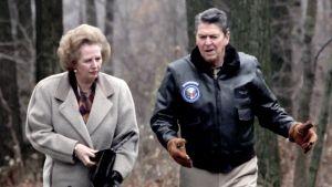 Margaret Thatcher och Ronald Reagan 1986