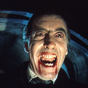 Christopher Lee elokuvassa Dracula (1958).