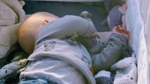 Sovande bebis.