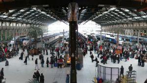 Järnvägsstationen Gare de Lyon i Paris.
