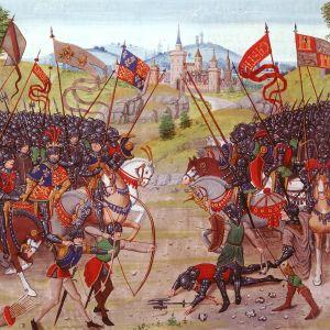 Maalaus Najeran taistelusta vuonna 1367