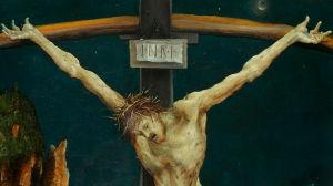Detalj ur Korsfästelsen av Matthias Grünewald.