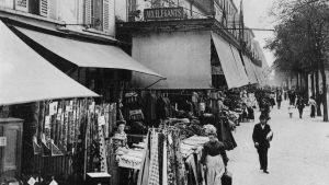Varuhuset Aux Elegants på Avenue de Maine i Paris, gatuförsäljning, 1915