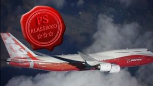 Kuvassa Boing 747 -lentokone