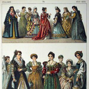 1500-1600 -lukujen italialaismuotia.