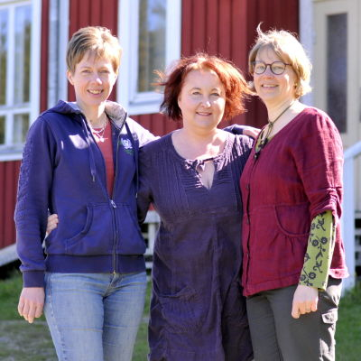 Maria Schauman, Sanna Sund och Ulrika Westergård-Denward