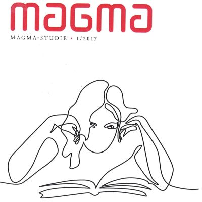 """Pärmen till Tankesmedjan Magmas studie """"Den finalndssvenska boken. Hur ser läsare och författare på finlandssvensk litteratur?""""."""