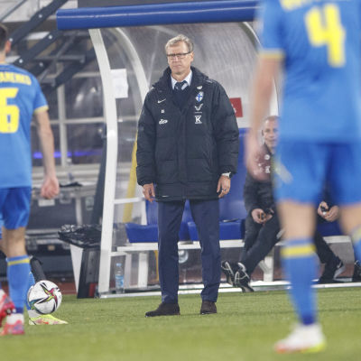 Markku Kanerva Ukrainaa vastaan MM-karsintaottelussa 9.10.2021.