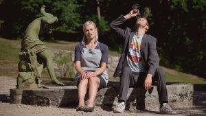Marja (Minka Kuustonen) och Olavi (Olavi Uusivirta) Kuva: