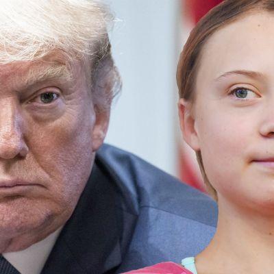 USA:s president Donald Trump och Greta Thunberg.