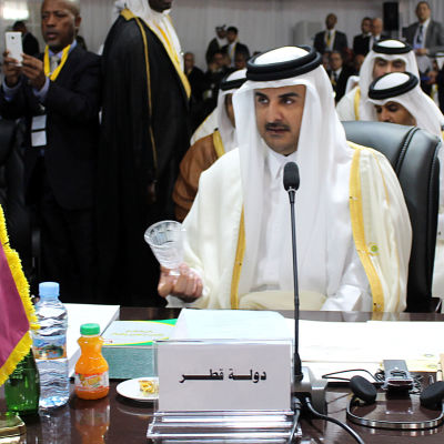 Emiren av Qatar Tamim bin Hamad al-Thani under Arabförbundets möte i Mauretanien 25.7.2016