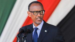 Rwandas president Paul Kagame talar i Kenya 11.2.2020