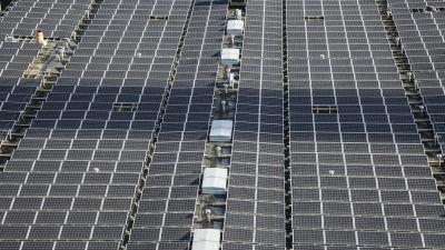 Helens solkraftverk i Södervik i Helsingfors.