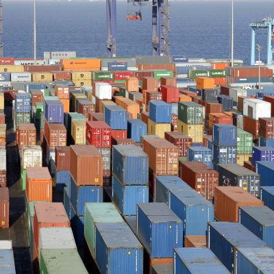 Hamnen i Aqaba i Jodanien