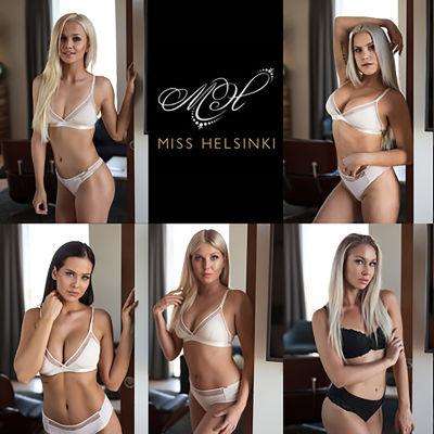 Tävlande i skönhetstävlingen Miss Helsinki 2018.