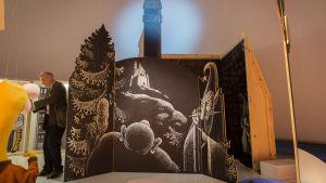 Fasad av slottet i mörkerboken
