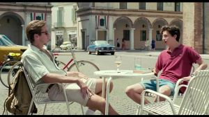 Armie Hammer ja Timothée Chalamet elokuvassa Call Me by Your Name (2017)