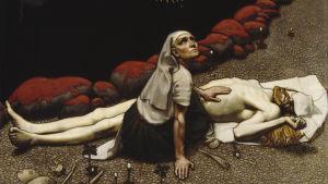 Målning av Akseli Gallen-Kallela med Kalevalamotiv