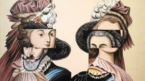 Erró- Marie Antoinette 1793, Henry lV 1610, 1965
