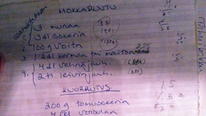 Kati Ojalan mokkapalaresepti.