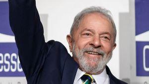 Brasiliens tidigare president Luiz Inacio Lula da Silva i Genève den 6 mars 2020.