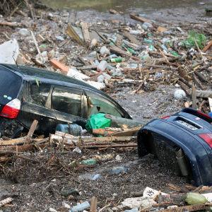 Översvämningarna i Tbilisi har gjort mycket skada.