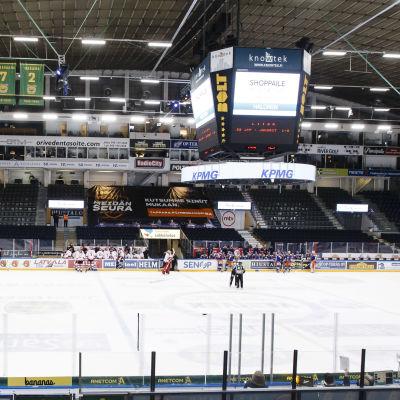 I mellandagarna spelade Tappara och Sport en match i Tammerfors inför tomma läktare.