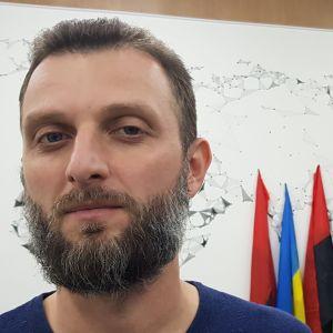 Porträtt på Alekandr Sobol.