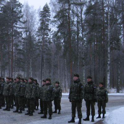 Pohjois-Karjalan Prikaatin viimeiset kotiutettavat Kollaan Vasamalla.