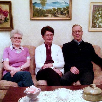 Berit Svens, Ann-Maj Miemois och Bengt Miemois