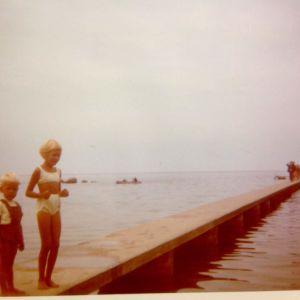 Peter och Ann-Sophie på Gotland, 1960-tal.