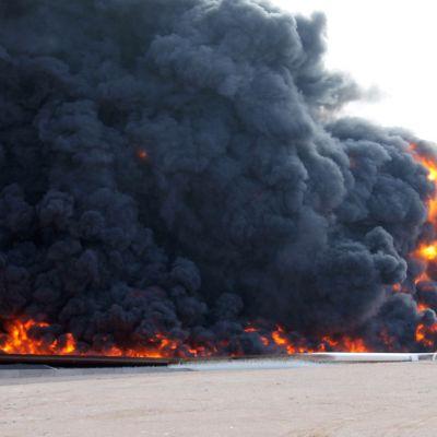 IS har blivit aktiv i Libyen igen. Terroristgruppen har bland annat utfört attacker mot oljeanläggningar som denna nära staden Sirt