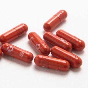 Foto på Mercks antivirala läkemedel mot covid-19.