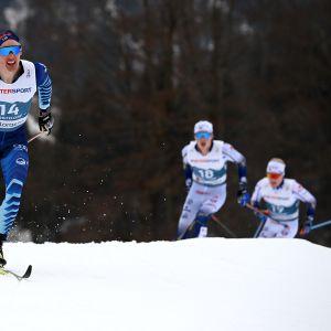 Iivo Niskanen 50 kilometrin kilpailussa Oberstdorfin MM-kisoissa.