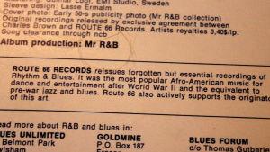 Citat från skivomslaget till en Route 66-utgåva