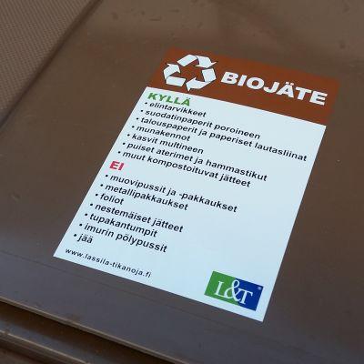 Bioavfallskärl.