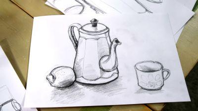 En teckning