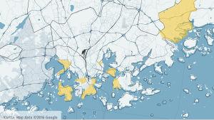 Här är tio procent eller mer av invånarna svenskspråkiga