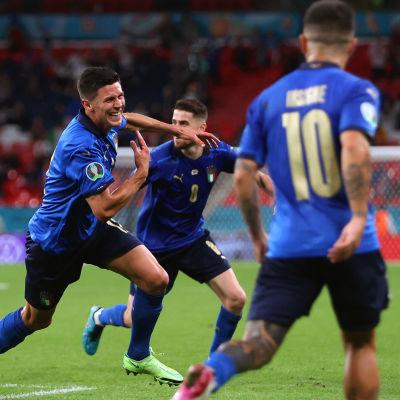 Italien firar mål i EM.