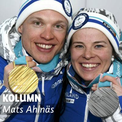 Iivo Niskanen och Krista Pärmäkoski, OS 2018.