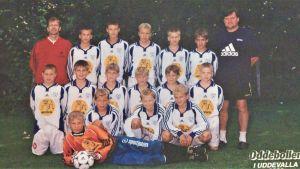 Norrvalla FF:s juniorer på turnering i Sverige 2000.