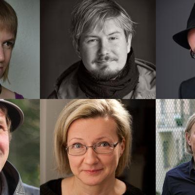 Runoilijat Janette Hannukainen, Eino Santanen, Aki Salmela, Ville Vanhala, Kristiina Lähde, Olli Heikkonen