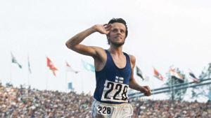 Lasse Virén efter 5000 meter OS 1972.