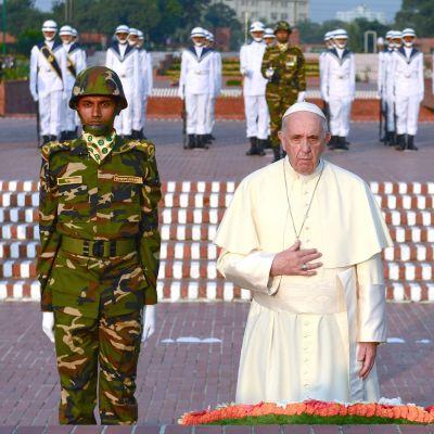 Påven Franciskus i Bangladesh.